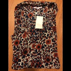 NWT Lucy Paris Long Sleeve Floral Blouse - Medium